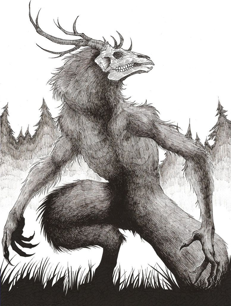 Wendigo by HBheavenlyboy   Creature drawings, Mythical creatures art, Scary  art