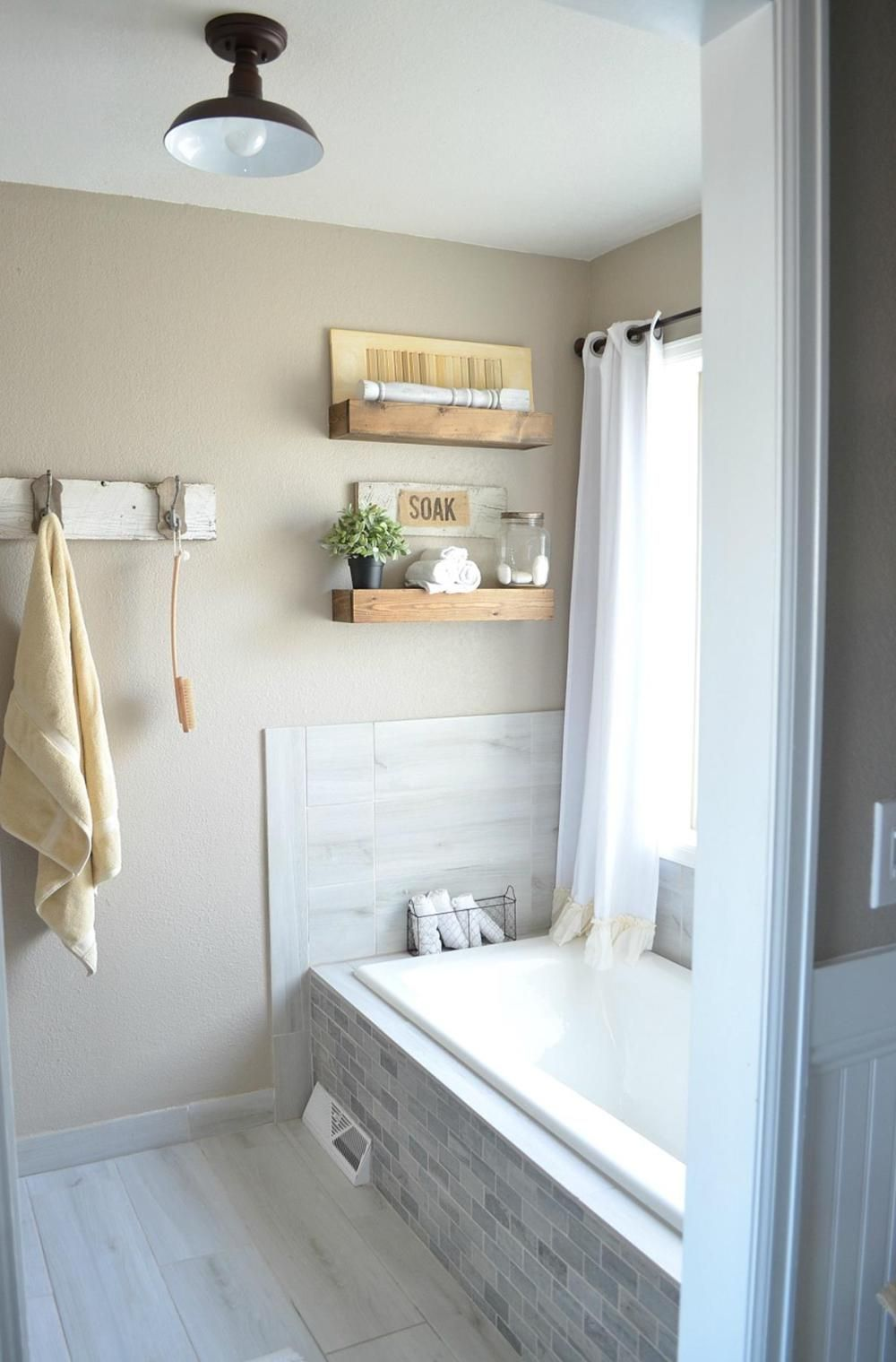 26 Charming Farmhouse Bathroom Accessories Ideas | Farmhouse ...