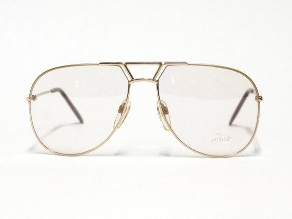 Jaguar vintage eyeglasses - model 319 - 1980s aviator glasses - made in Germany - NOS condition