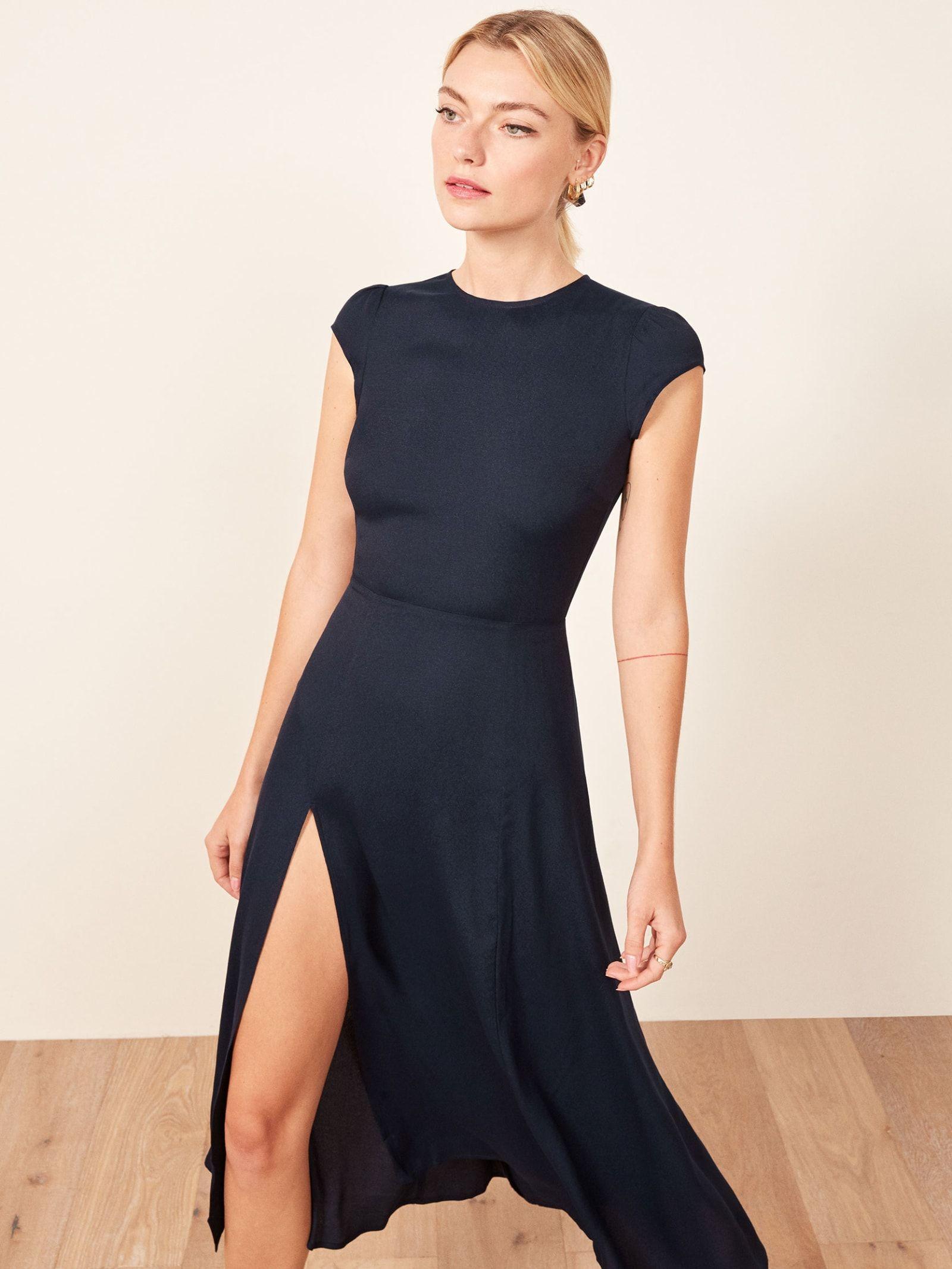 QUIZ Damen Black Side Neck Tie Sleeveless Midi Dress cocktailkleid