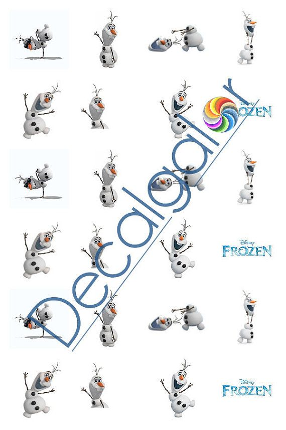 Frozen Olaf Disney Princess Nail Art Water Transfer by Decalgalor