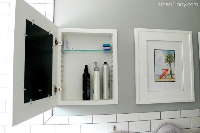 Bathroom Mirror With Hidden Storage. Storage Behind A Picture Frame Brilliant Doesnt Have To Be Limited To The Bathroom