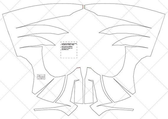 Easy Spider Man V 1 Faceshell Mask For Cosplay Pdf Template