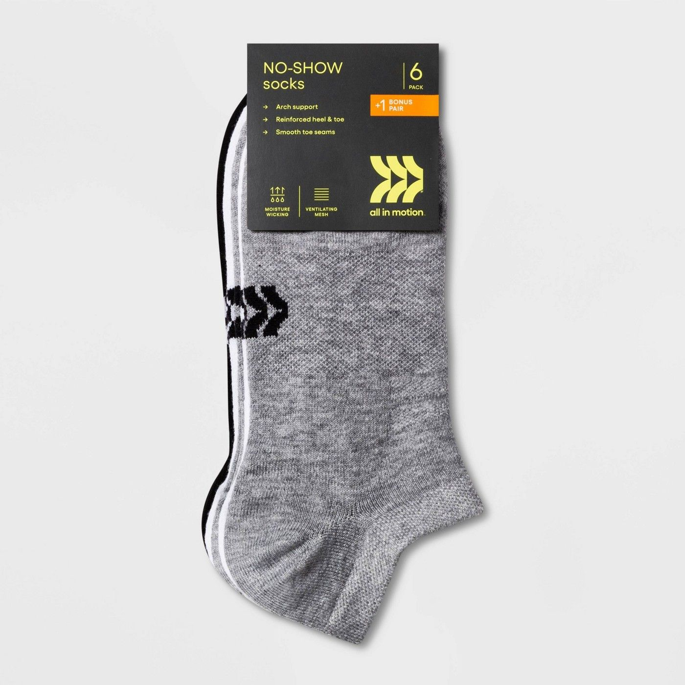 Women's Extended Size Lightweight Active Mesh 6+1 Bonus Pack No Show Athletic  Socks - All in Motion™ 8-12 in 2020 | Athletic socks, All in motion, Sock  packs
