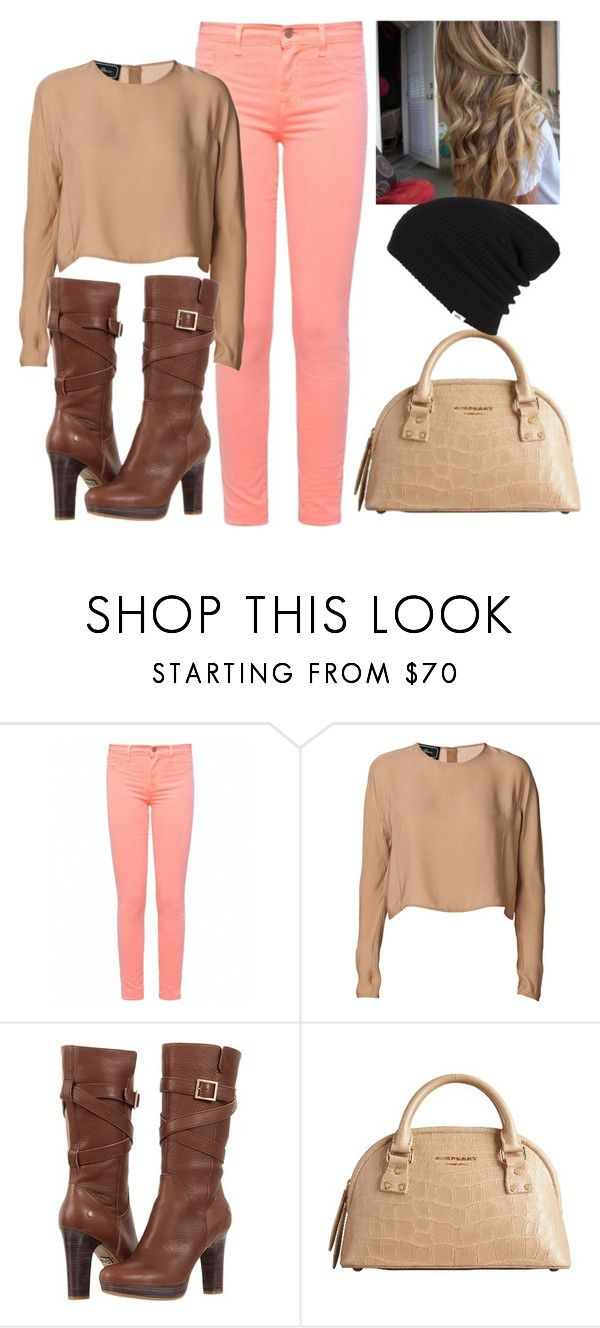 """""""Untitled #42"""" by alikiace ❤ liked on Polyvore featuring J Brand, By Malene Birger, UGG Australia, Burberry and Vans"""