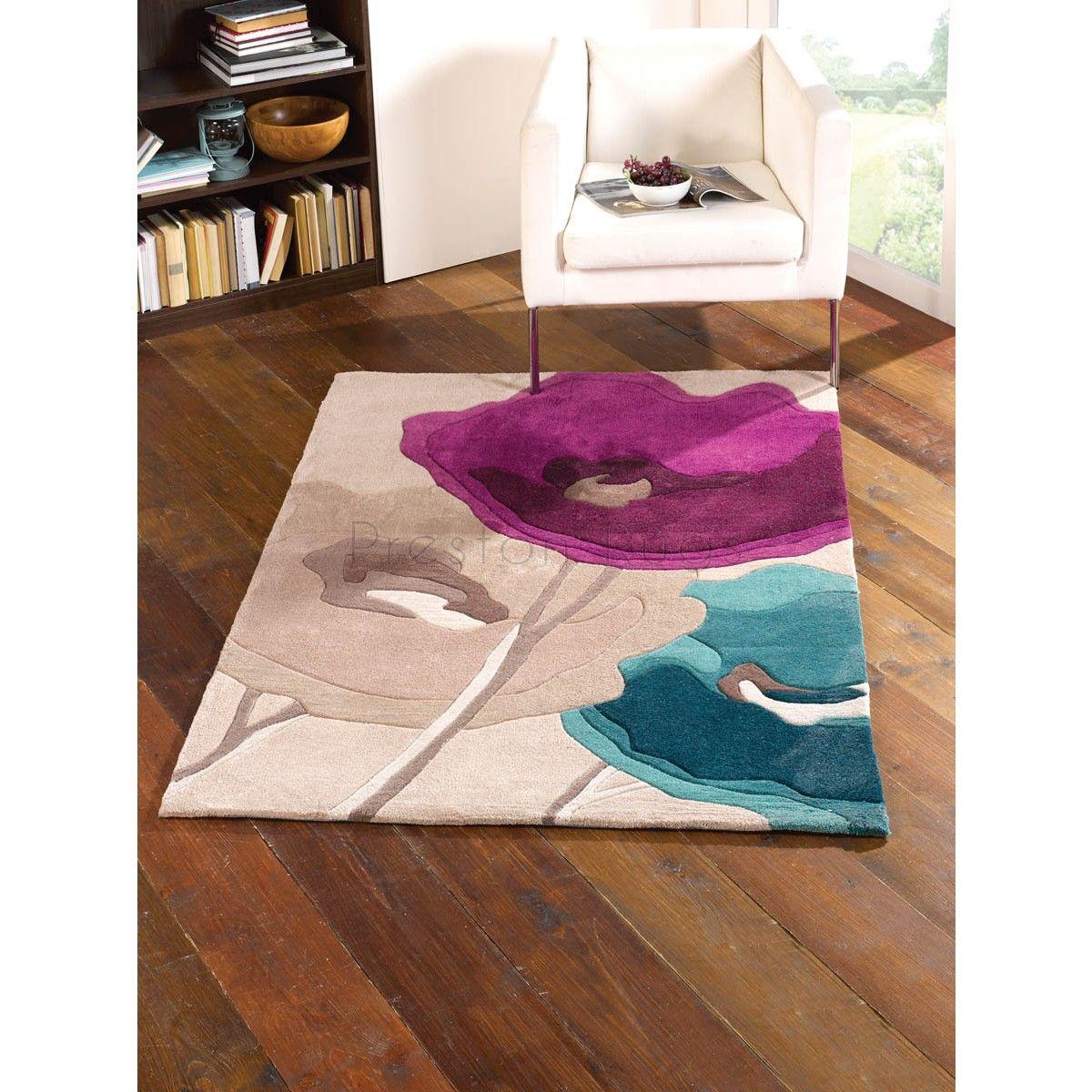 Infinite mod art poppy teal purple flower rug bedroom pinterest infinite mod art poppy teal purple flower rug mightylinksfo
