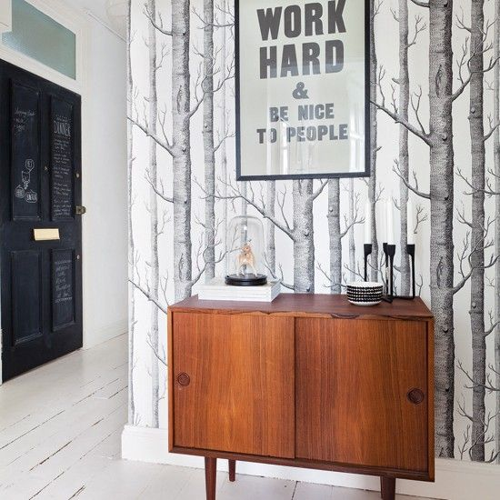 Flur Diele Wohnideen Möbel Dekoration Decoration Living Idea Interiors Home  Corridor   Weiß Flur Mit Motiv