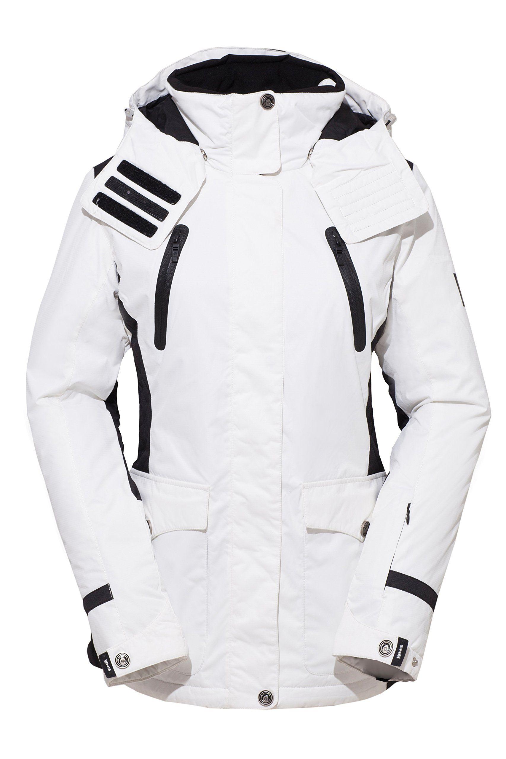 Amazon Women White Full Zip Outdoor Sport Jacket