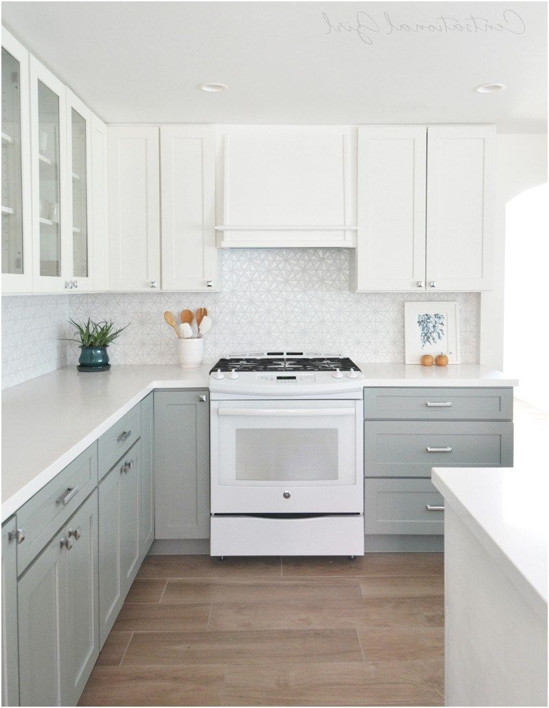 grey kitchen cabinets with white appliances exitallergy from What ...