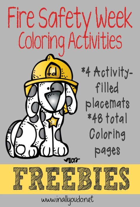 Fire Safety Week Coloring Activities | Fire safety week ...