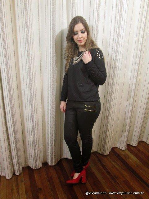 Vivy Duarte: Look do Dia: Red Shoes