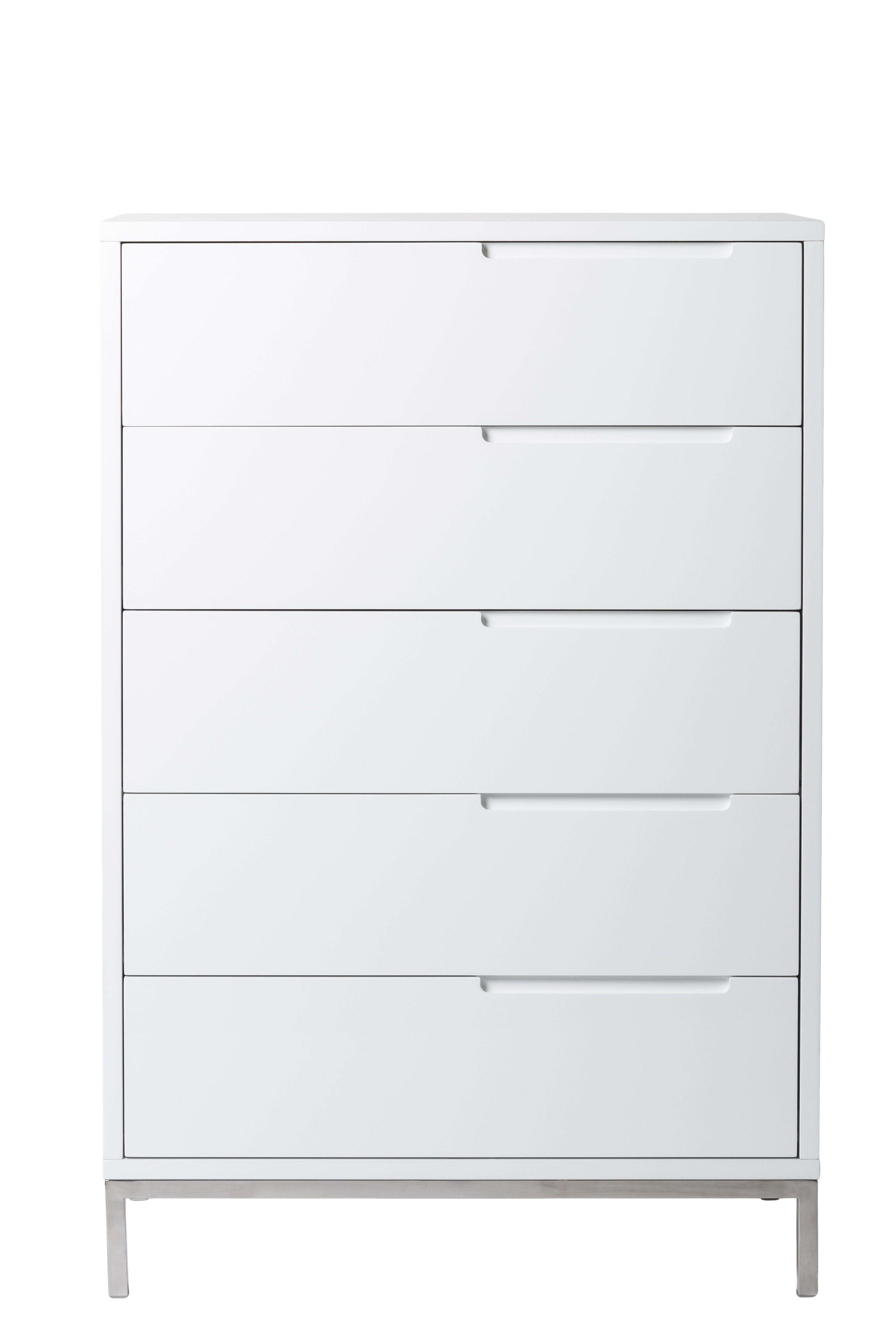 Capriana Tall Dresser White Tall White Dresser Moe S Home Collection Simple Dresser [ 5760 x 3840 Pixel ]