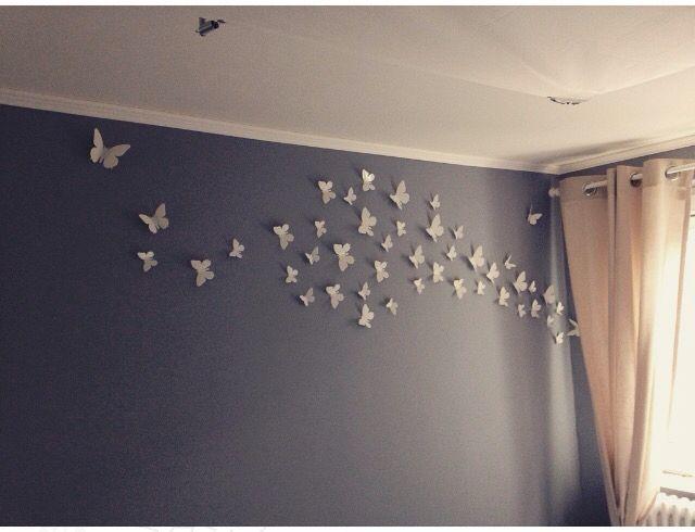 Wanddeko # Schmetterlinge #schlafzimmer #sweethome einricht - wanddeko für schlafzimmer