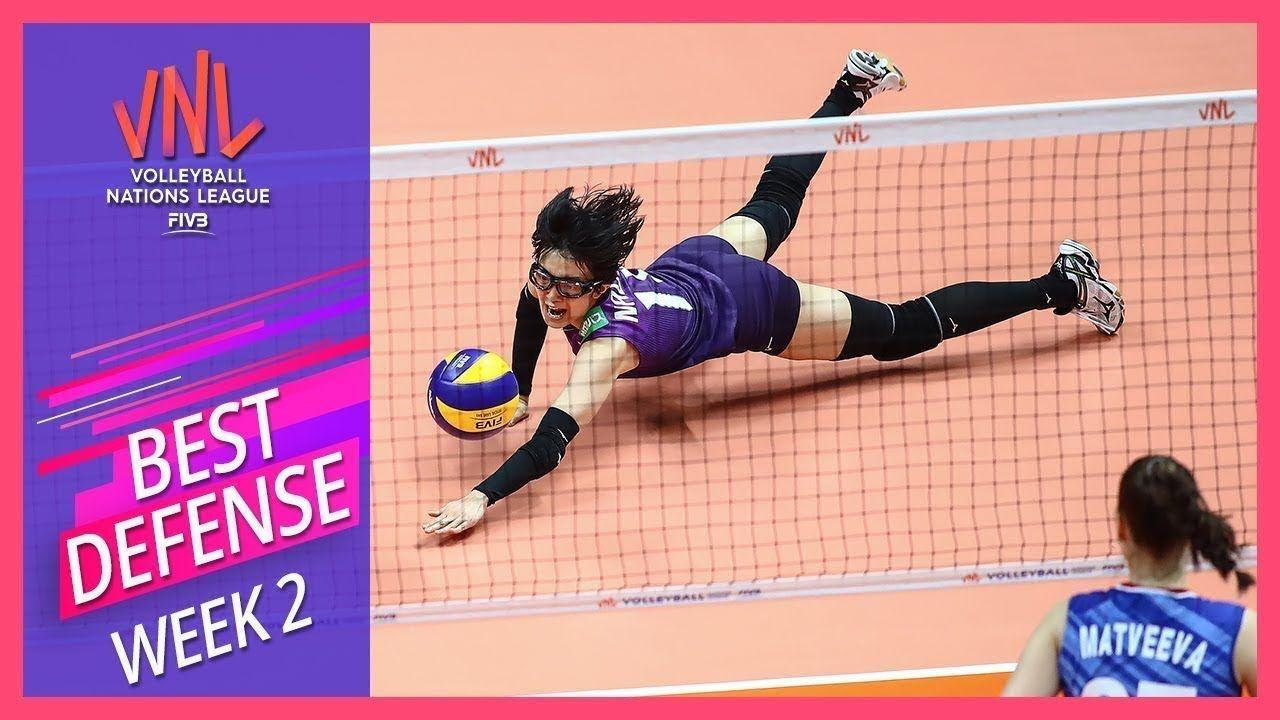 Best Defense Of The Week 2 Women S Vnl Volleyball 2019 Best Defense Volleyball Defense