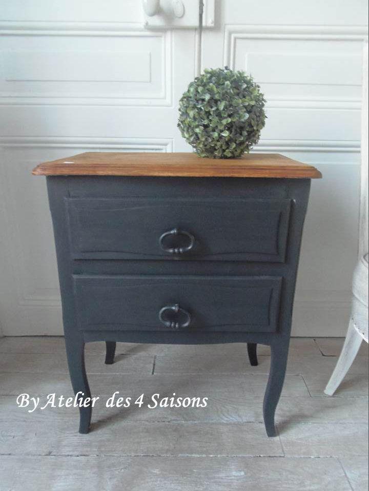 atelierdes4saisonsfr Meubles Meuble peint Pinterest - vernir un meuble peint