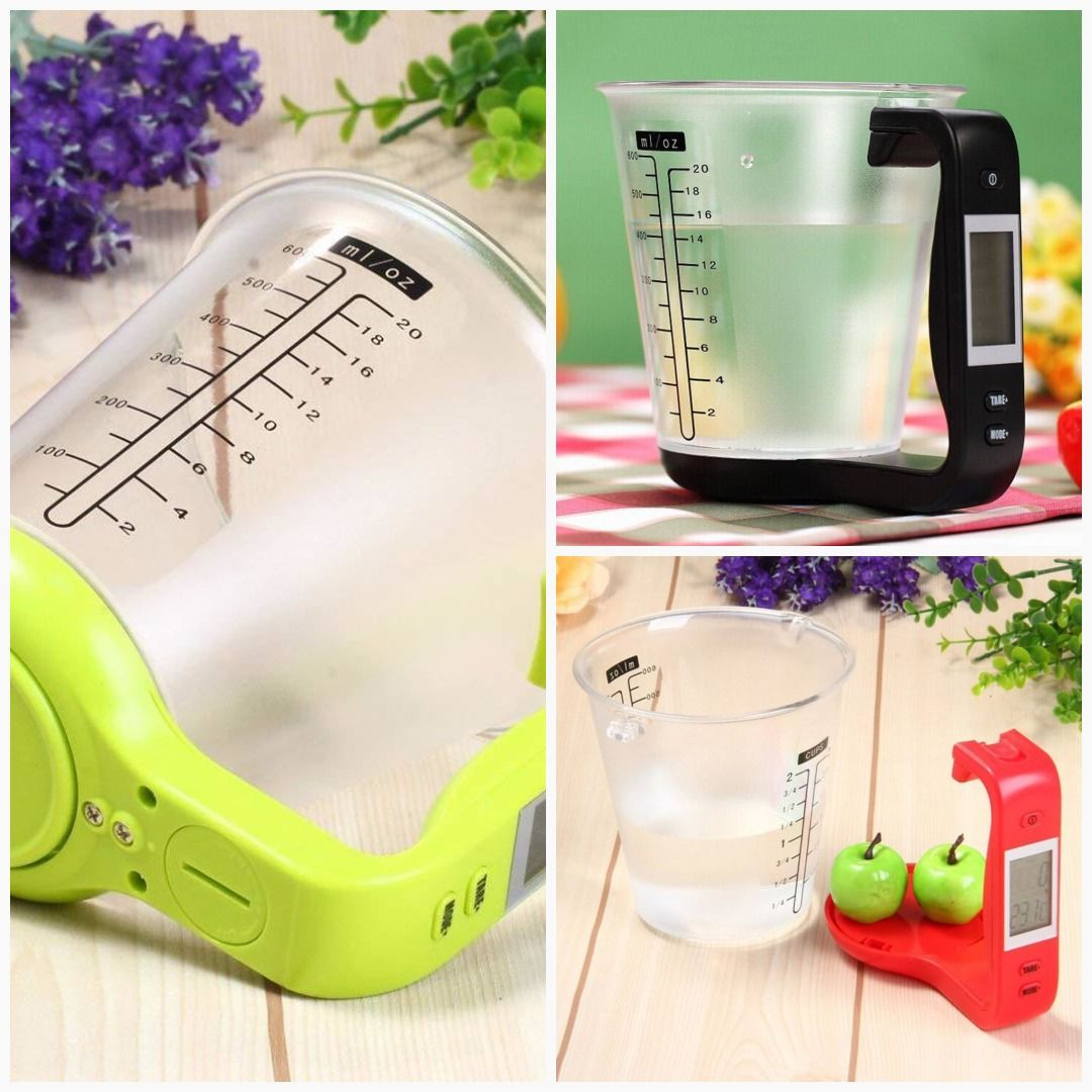 Plastic Liquid Measuring Cup Adjustable Digital Dry Jug In