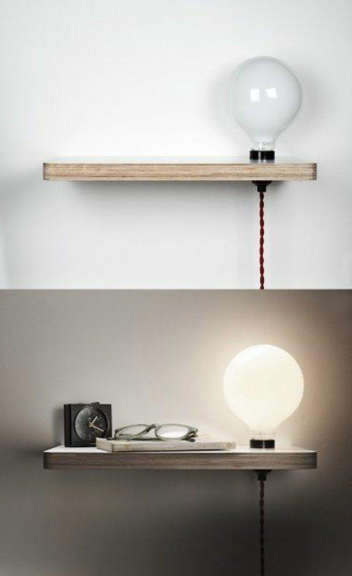 installer une table de nuit suspendue prs de son lit les avantages - Etagere Table De Nuit