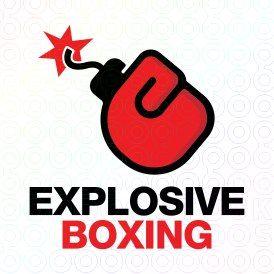 explosive boxing logo logo pinterest logos rh pinterest com boxing logo maker boxing logos designs