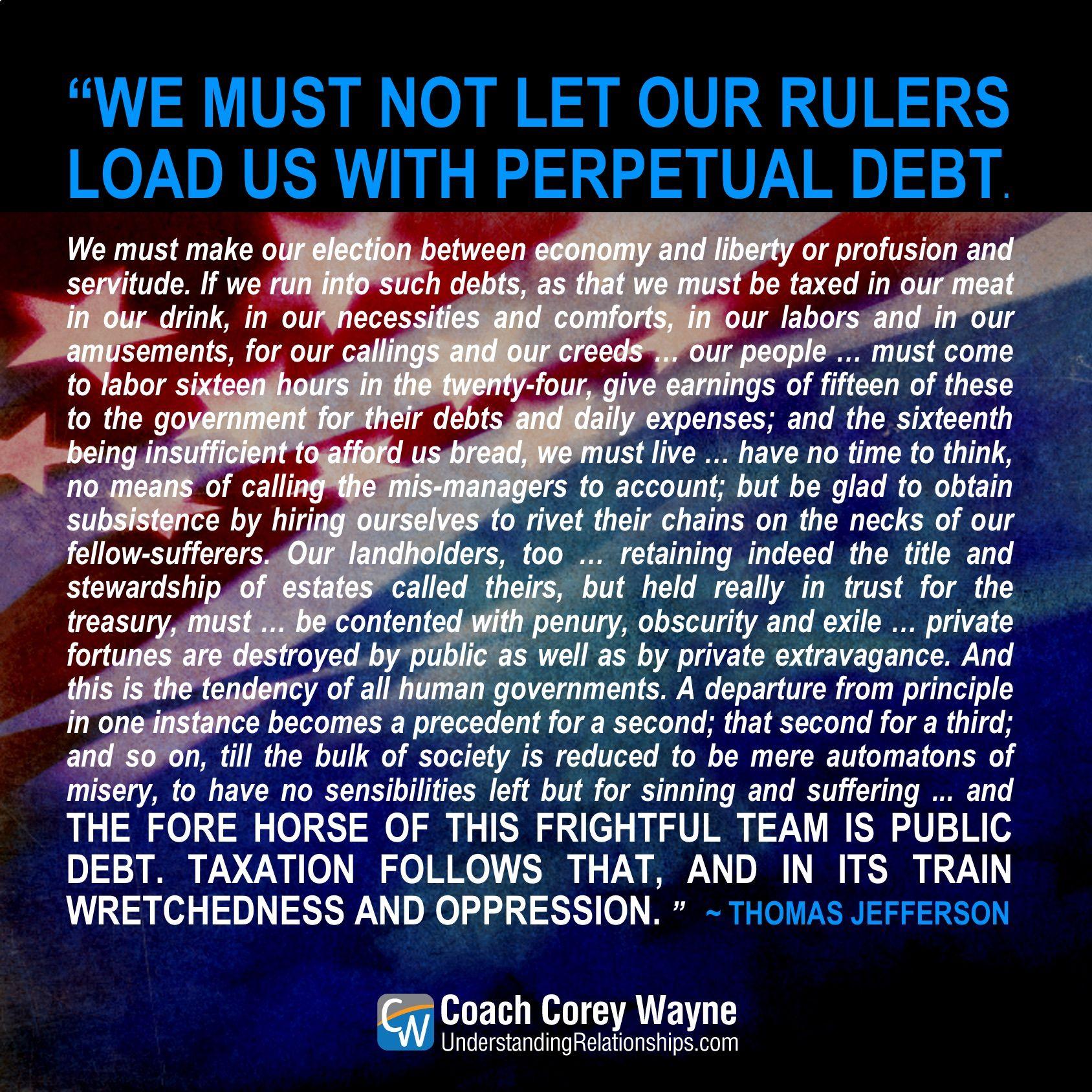 Thomasjefferson Foundingfathers Patriot America Unitedstates Americanquotes Americanrevolution American Quotes Founding Fathers Finance Plan