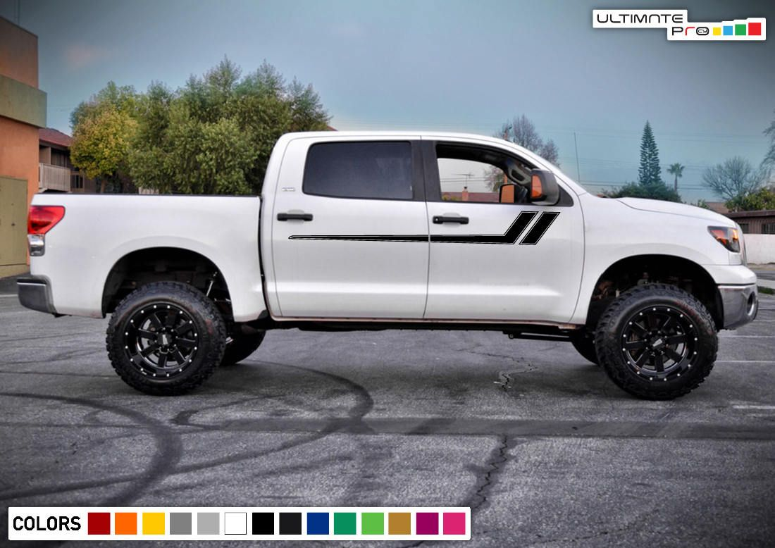 Decal Sticker Side Door Bed Stripes for Toyota Tacoma Sill Mirror Handle Fender