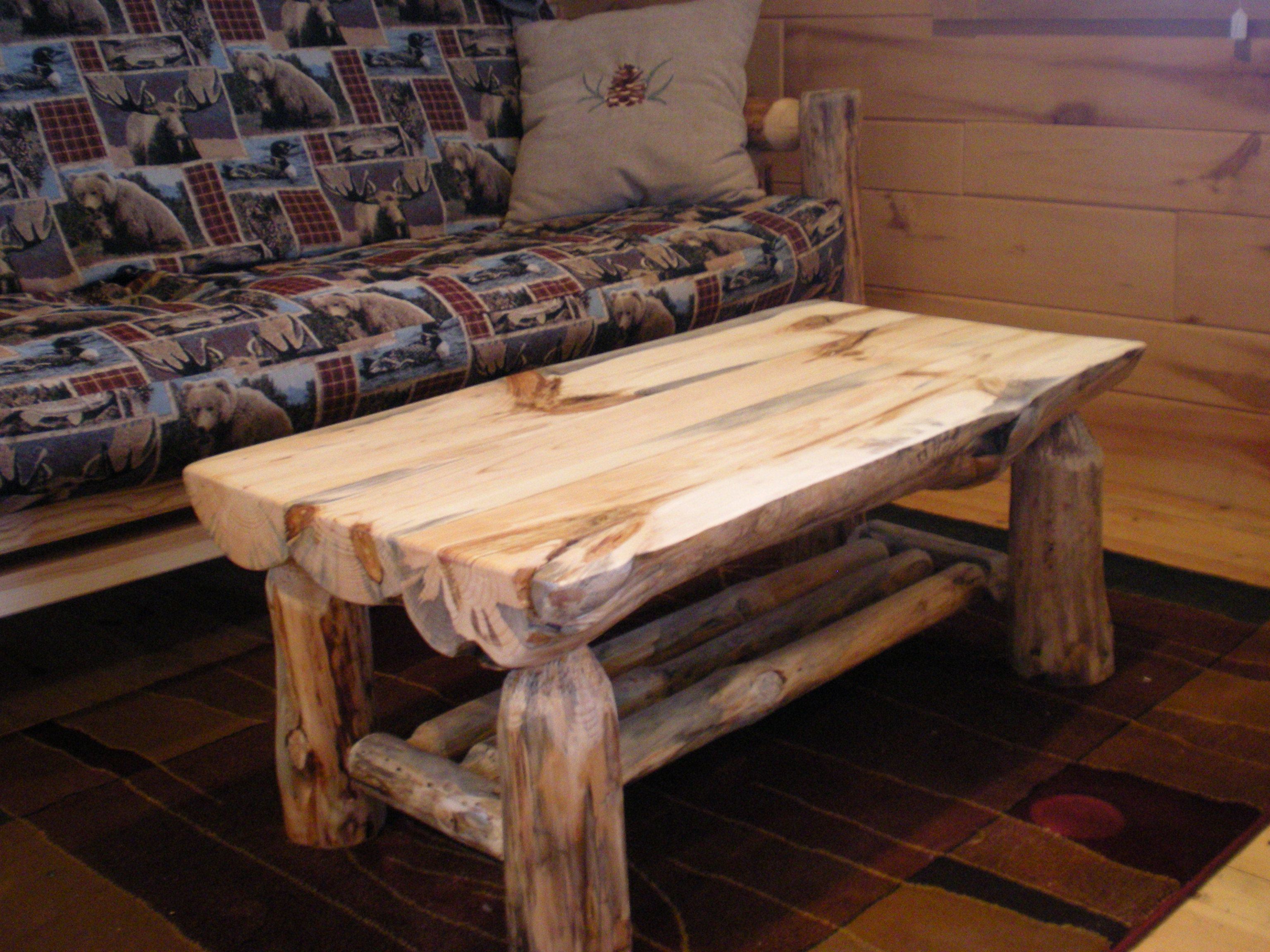Half Log Coffee Table Log Family Room Living Room