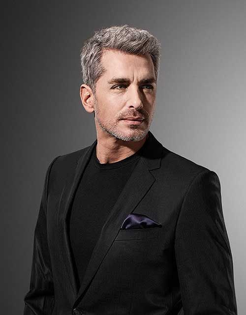 Hairstyles For Older Men cool hairstyle and beard for older men pompadour fade with beard Hair Styles For Older Men