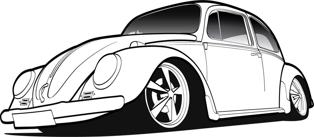 how to draw a classic vw beetle