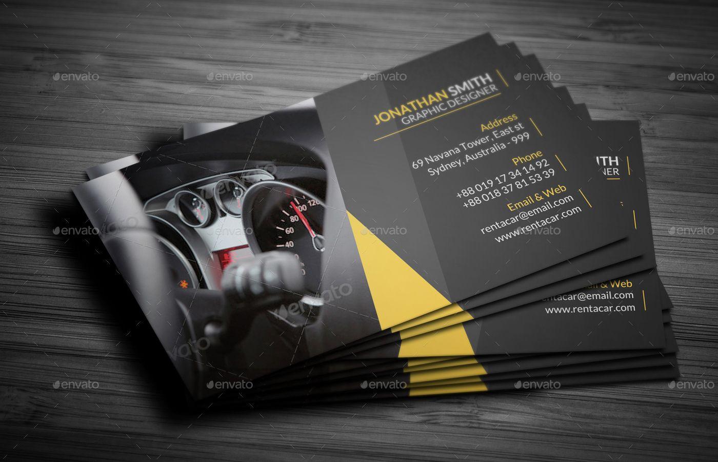 Rent A Car Business Card Bundle Business Card Minimalist Business Template Business Card Templates Download