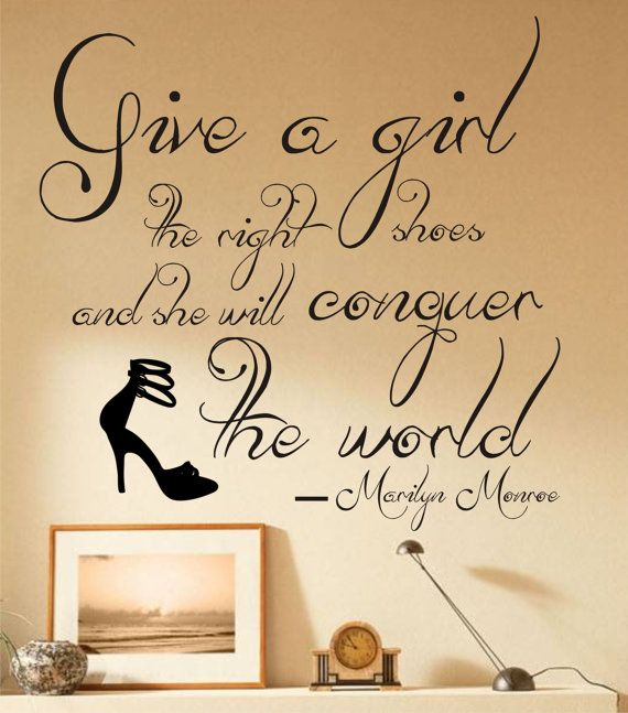 SALE Marilyn Monroe vinyl wall art quote Shoes Give a by VineL ...