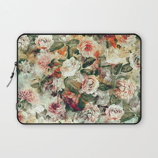 Check out society6curated.com for more! @society6 #floral #flowers #pattern #laptop #computer #case #sleeve #electronic #accessory #accessories #fashion #style #student #college #gift #idea #fun #unique #art #artsy #design #cool #awesome #botanical #orange #cream #green