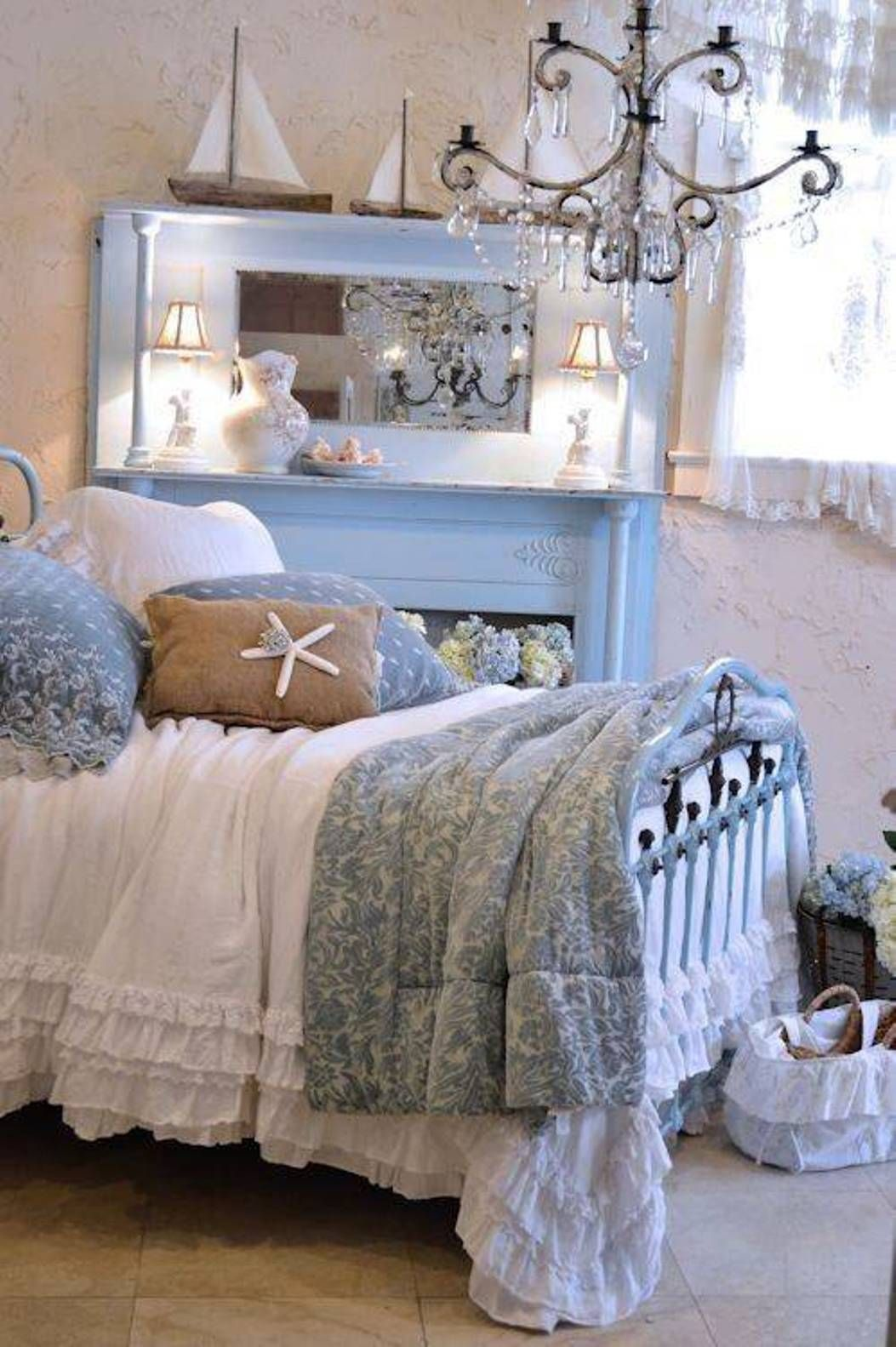 Shabby chic coastal bedroom ideas with Shabby chic bedroom accessories