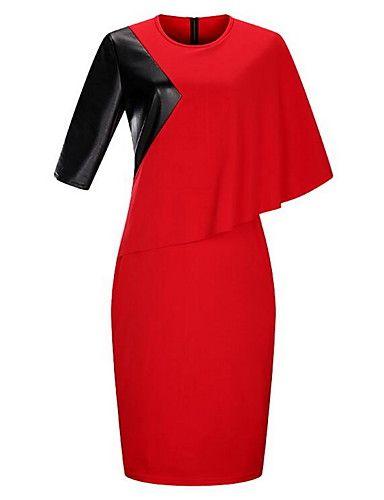 c5417abc8c3 Women s Asymmetrical Plus Size Bodycon Dress - Floral   Color Block ...