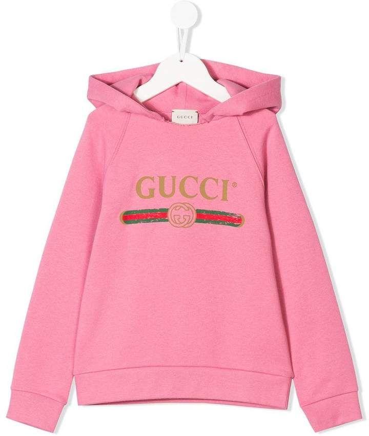 4cca1d8961f Gucci Kids Vintage Logo Hoodie