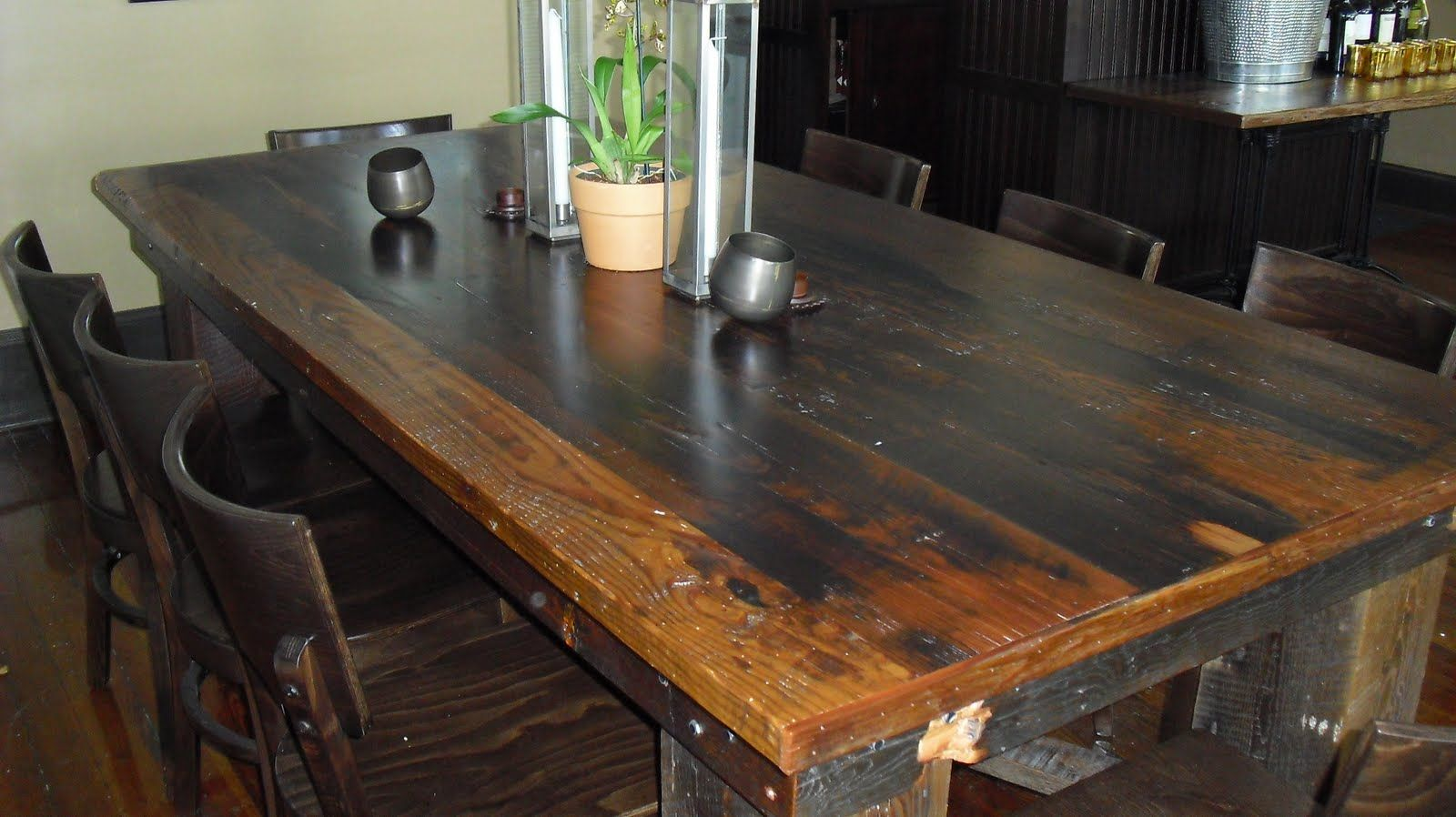 Old Growth Riverwood: Old Wood Tables/New Restaurant
