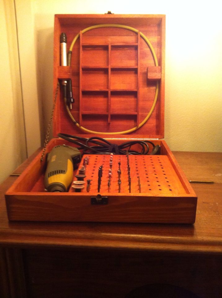 Rotary tool storage I made :) check me out on facebook: Aakjaer Woodworking & Designs #Dremel, # ...