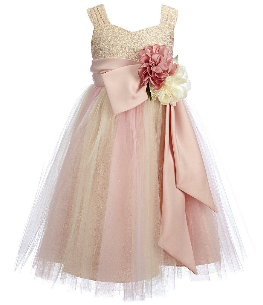 Chantilly Place Little Girls 2T-6X Brocade Ballerina Dress