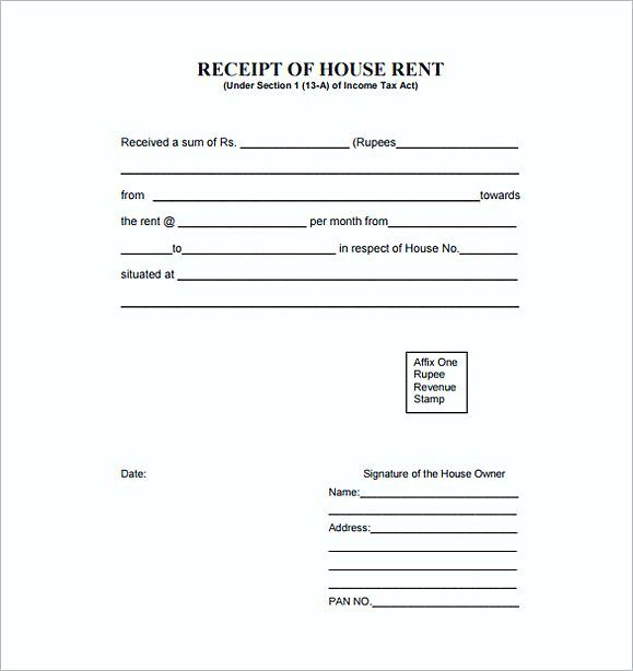 House rent Receipt PDF Free , Rent Invoice Template , Knowing Some - rent invoice template excel
