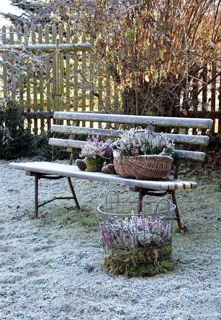 Hof 9 ber 39 n gartenzaun geschaut gartendeko im - Gartendeko winter ...