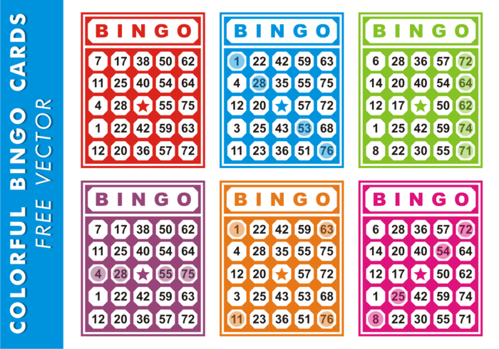 Colorful Bingo Cards Free Vector Download Free Vector