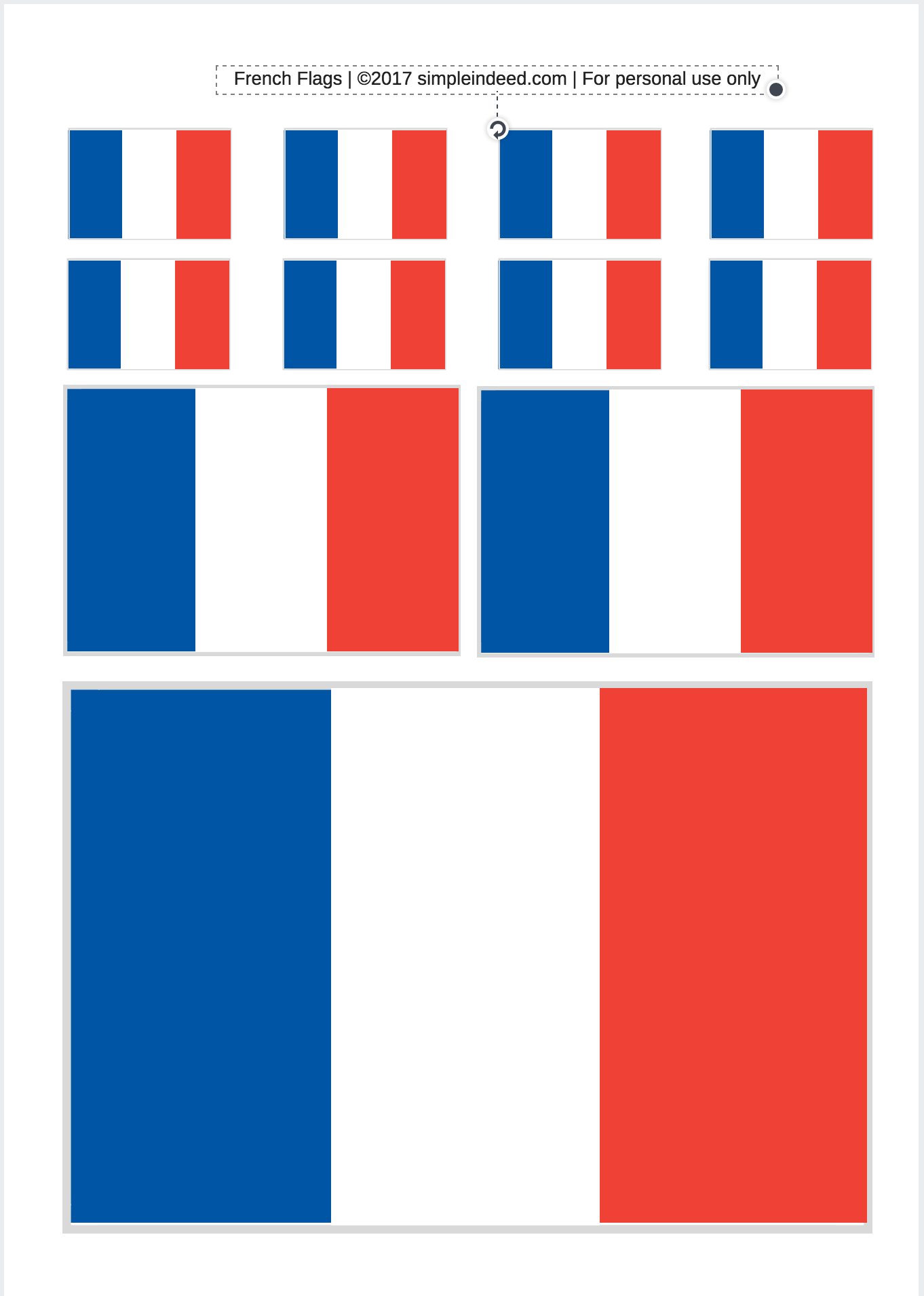 French Flag Printable In 3 Sizes