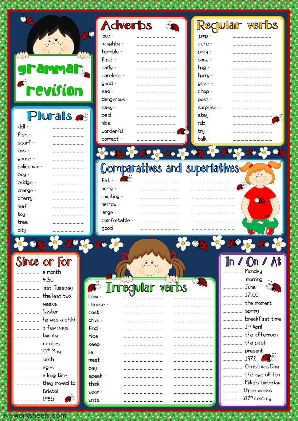 Grammar Interactive And Downloadable Worksheet You Can Do The Exercises Online Or Download The Worksheet Grammar Practice Grammar English As A Second Language [ 1413 x 1000 Pixel ]