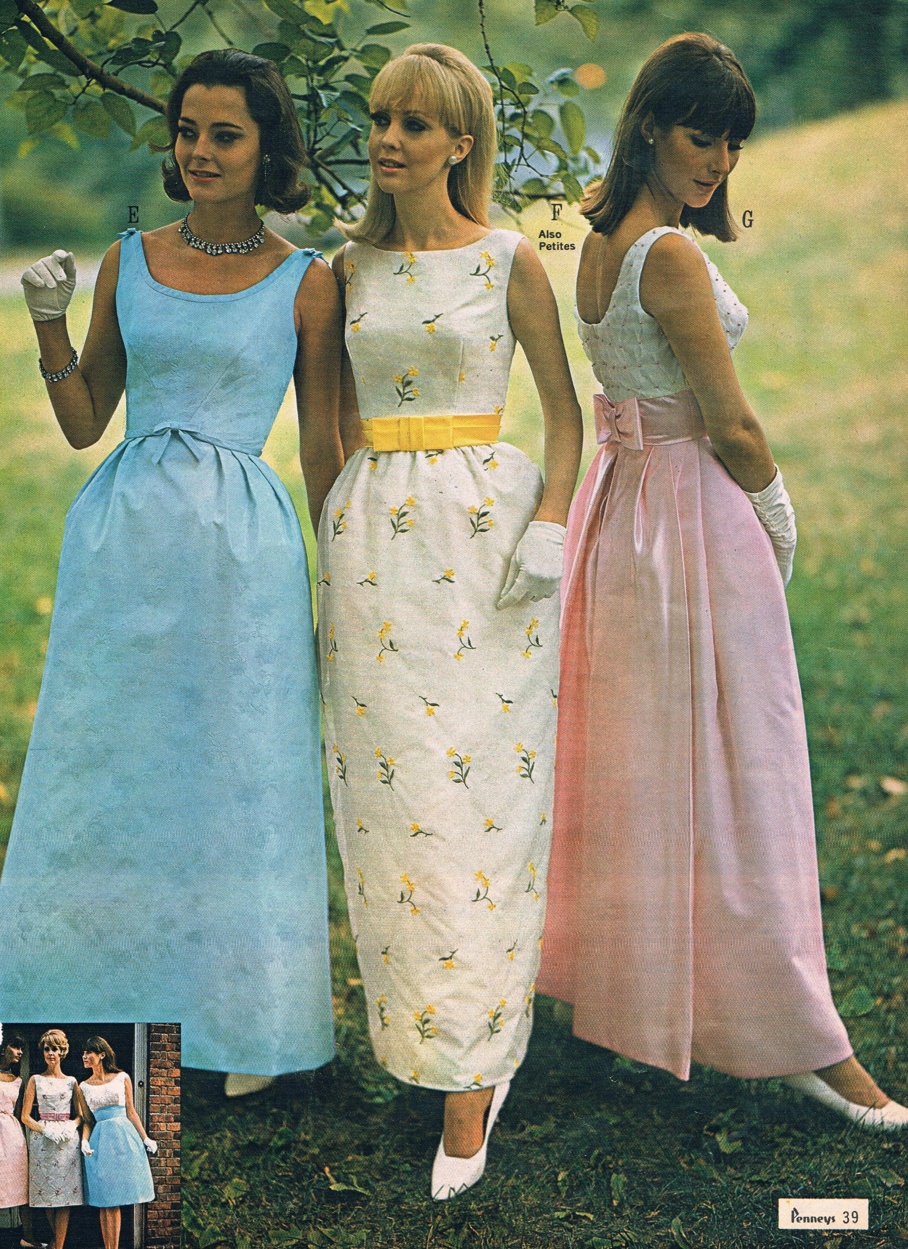 Penneys Catalog 60s Vintage Style Prom Dresses Prom Dresses Vintage 1960s Fashion Women [ 4261 x 3097 Pixel ]