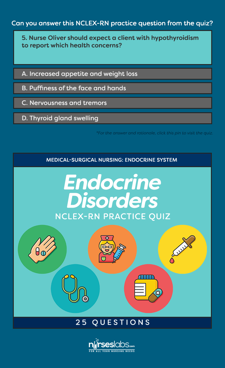 NCLEX-RN Quiz: Endocrine System Disorders (50 Questions
