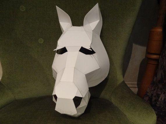 Make Your Own Horse Mask From Cardboard Digital Download Diy Mask