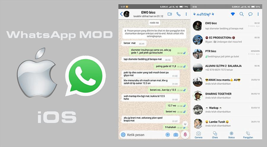 Download Whatsapp Iphone Mod Ios 13 V7 99 Anti Banned Latest Whatsapp Mod Anti Blokir Dan Banned Apk Terbaru 2019 Aptoid Hp Android Themes App Iphone Reviews