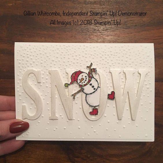 So bastelst du ganz einfach Weihnachten für Kleinkinder - Schneemannkarten #christmascards