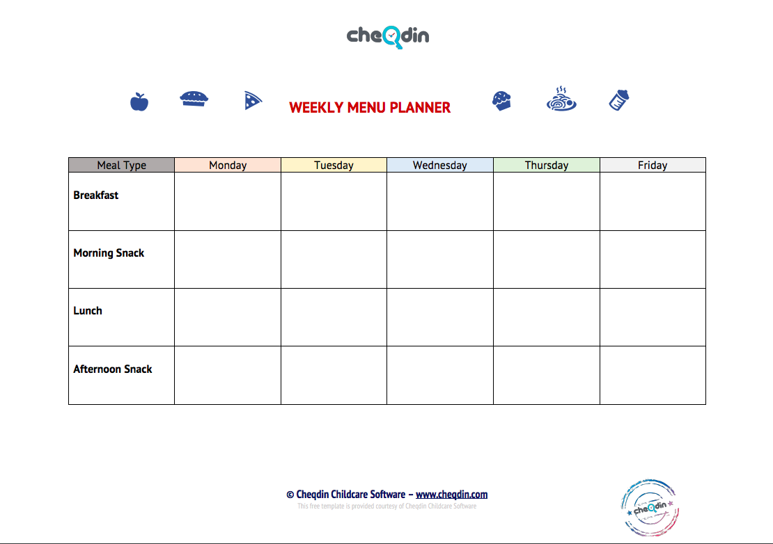 Free Templates for Day Nurseries and Childcare Providers
