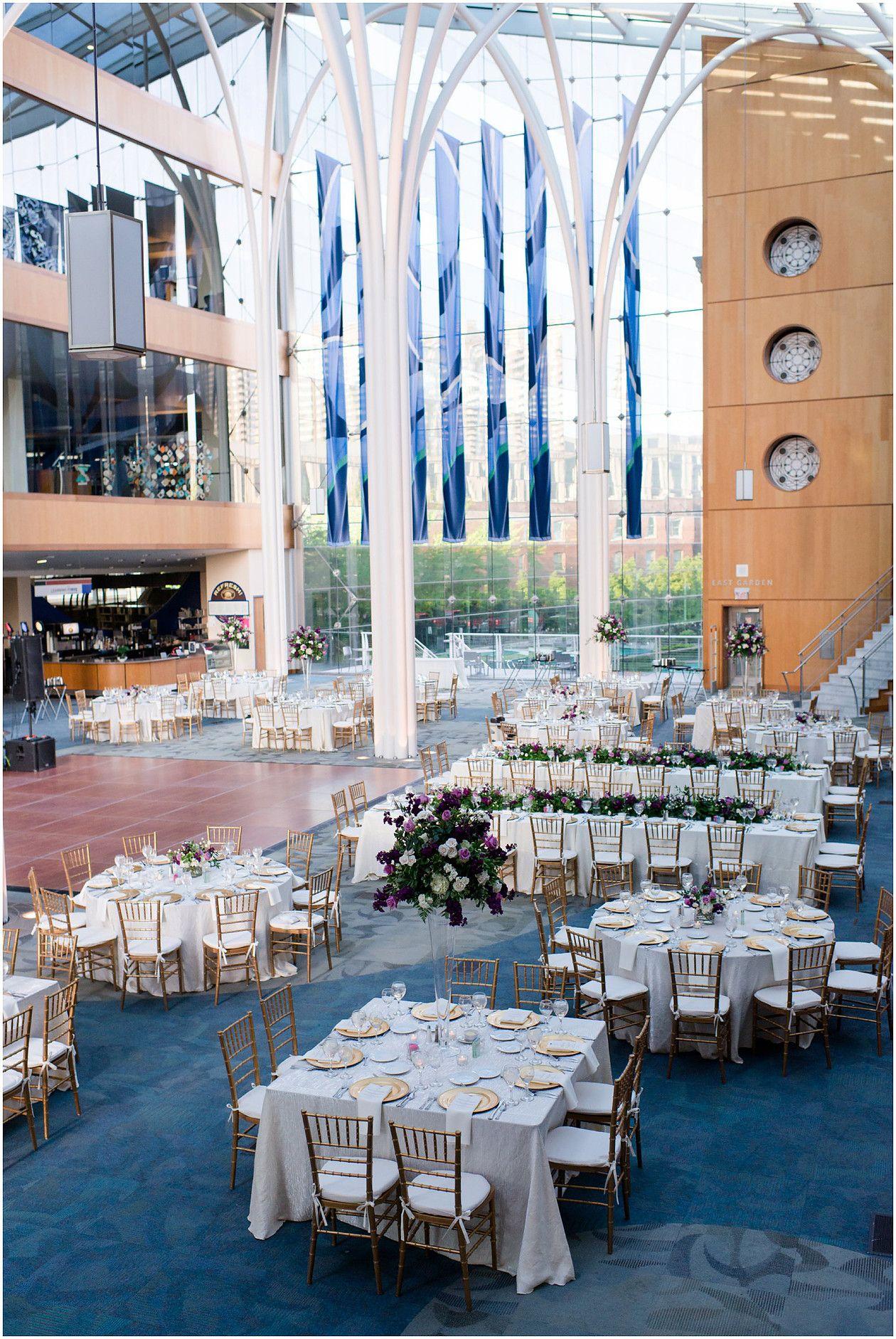 Indianapolis Central Library, Indianapolis public library wedding reception, Atrium
