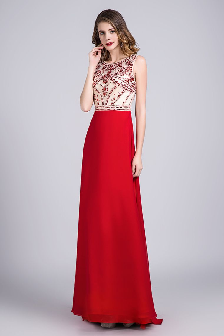 red fitted dress prom