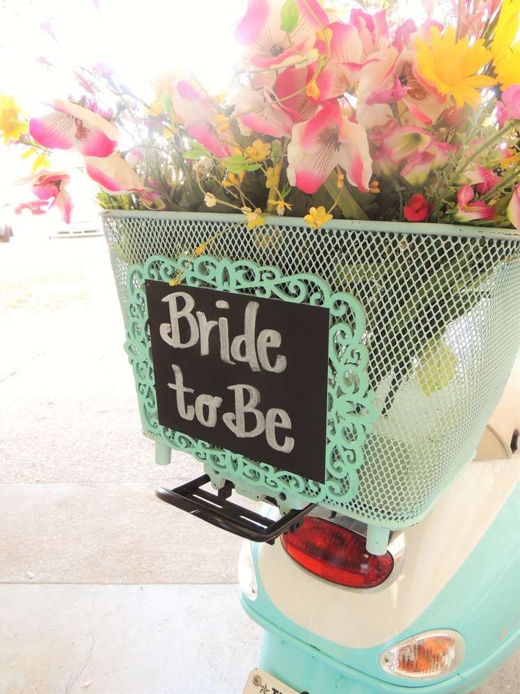 retro scooter at a bridal party see more party planning ideas at catchmypartycom